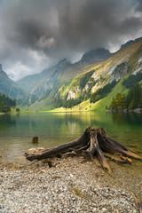 Seealpsee Bewölkter Himmel, Appenzell, Schweiz