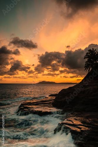 Keuken foto achterwand Zee zonsondergang Sunset