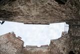 Baba Vida, a medieval fortress in Vidin, in northwestern Bulgaria. Fisheye lens used  - 176304759