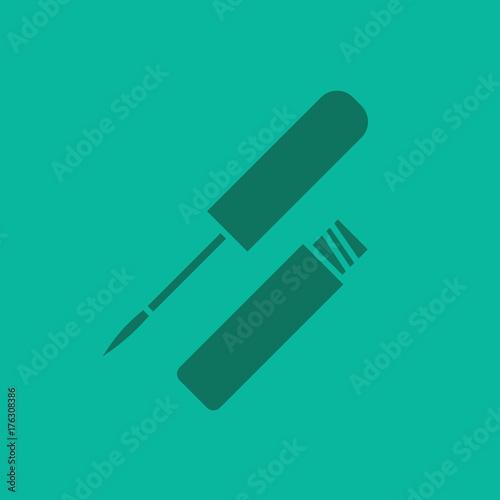 Lip gloss glyph color icon
