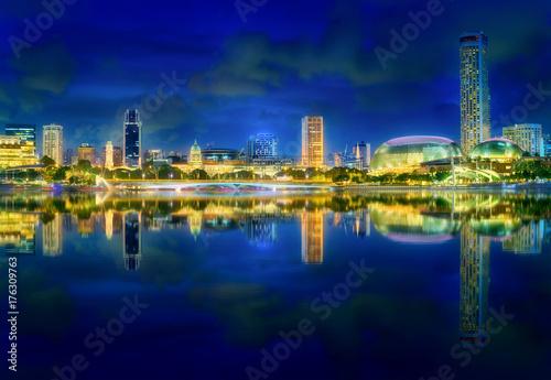 Singapore skyline background Poster