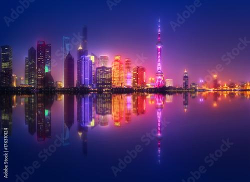 Tuinposter Shanghai Shanghai skyline cityscape