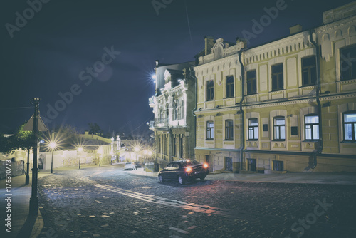 Foto op Canvas Kiev old city in Kyiv at night