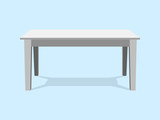White Table Platform Stand. Template for Object Presentation.Vector Illustration EPS - 176319151