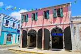 Charlotte Amalie streets in historic town - 176321384
