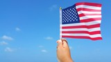 P01508 US USA American flag background - 176328380