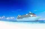 Cruise Destination Ocean Summer Island Concept - 176329386