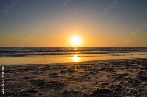 Fotobehang Strand California Sunset