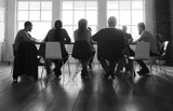 Diverse group of people in a seminar - 176335516
