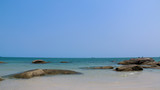 Beautiful  sea ,sand ,stoneand sky with tropical beach in  Thailand.Summer holiday background. - 176339560