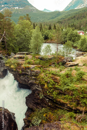 Gudbrandsjuvet gorge in Norway - 176340383