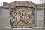 bas-relief near the statue of Knyaz Vladimir in Moscow - 176341128