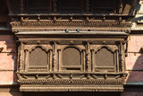 Very old wooden Nepalese window called Ankhi jhyal - 176341399