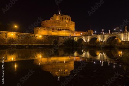 Tuinposter Rome Notte al castello II