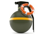 Hand grenade with life buoy - 176349755