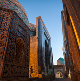 Ancient complex of buildings of Shakh i Zinda in the city of Samarkand, Uzbekistan - 176350703