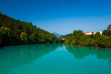 Turquoise lake in the city of Fussen. Germany - 176350795