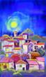 old village panorama illustration - 176352925