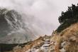 Quadro Mountain track heading to foggy mountain