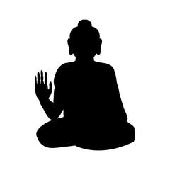 Buddha silhouette traditional religion spirituality