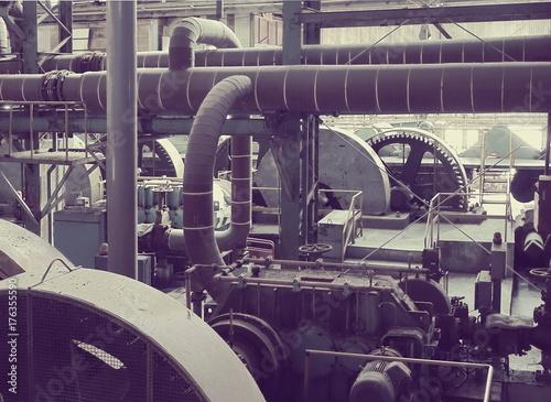 Fotobehang Gebouw in Puin Abandoned Old Factory