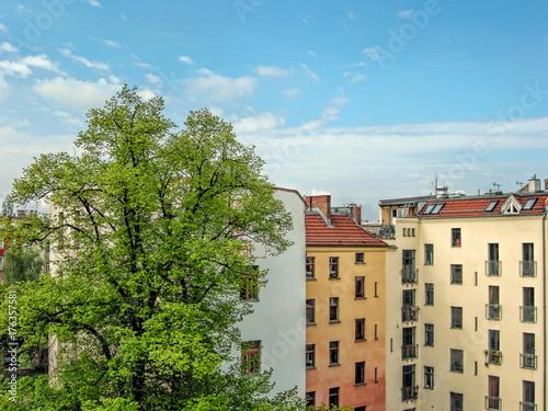 Staande foto Berlijn Berlin, Sanierte Altbauten