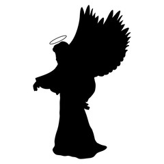 Archangel silhouette christmas angel religious christian