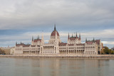 Hungarian Parliament Building situated on banks of the Danube river, Budapest, Hungary - 176359727