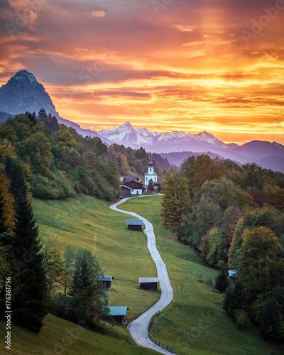 Fridge magnet Bavarian Sunset
