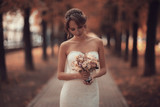 Bride wedding portrait white dress - 176367962