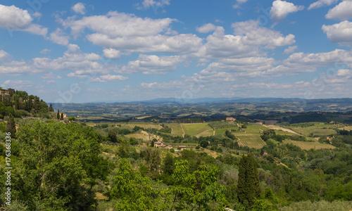 Keuken foto achterwand Toscane Panoramablick von San Gimignano Toskana Italien