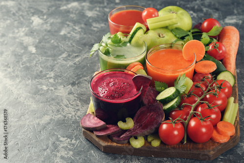 Foto op Aluminium Sap Fresh vegetables juices