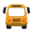 school bus frontview icon image vector illustration design