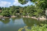 Beautifully manicured grounds of Imperial Palace, Oikeniwa Garden, Kyoto, Japan - 176374371