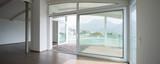 Modern attic, empty living room - 176378338