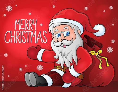 Deurstickers Voor kinderen Merry Christmas thematics image 1