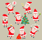 Santa Claus vector set