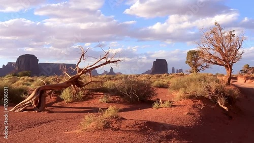 In de dag Oranje eclat Footage compilation of of Monument Valley views. 8 footages, 5 seconds each.