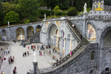 The Sanctuary of Our Lady of Lourdes, a destination for pilgrimage in France famous for the reputed healing power of its water. - 176384158