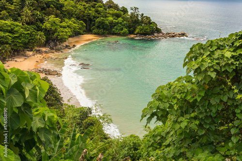 Fotobehang Olijf Seascape view point lamsing at phuket, thailand