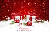 Christmas gift with balls - 176389777