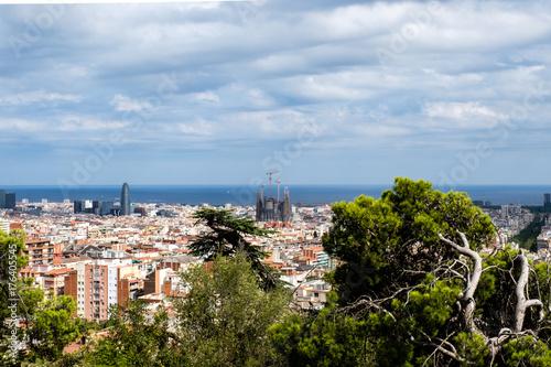 Poster Barcelona Barcellona, panorama urbano