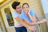 couple on veranda - 176407764