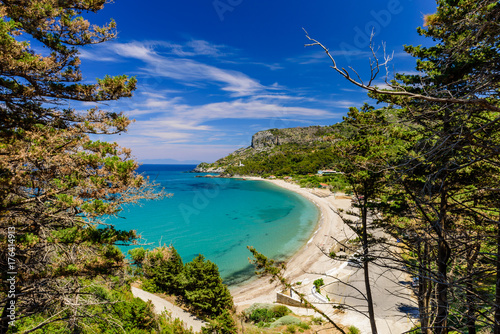 Tuinposter Tropical strand The scenic Potami beach, a popular destination on the Greek island of Samos, Greece