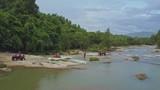 Tourists Drive Quadricycles across Deep River Part - 176415124