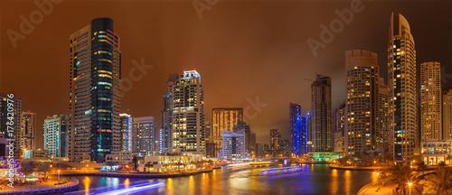 DUBAI, UAE - MARCH 25, 2017: The nightly Marina.