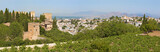 Granada - The panorama of Alhambra and the town from Generalife gardens. - 176424995