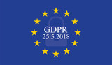 General Data Protection Regulation (GDPR) on european union flag - 176437910