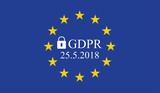 General Data Protection Regulation (GDPR) on european union flag - 176437945