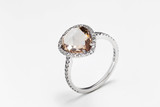 ring of sapphires and rubies with white and pink diamonds and gems